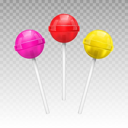 Lollipop on a stick isolated on transparent background