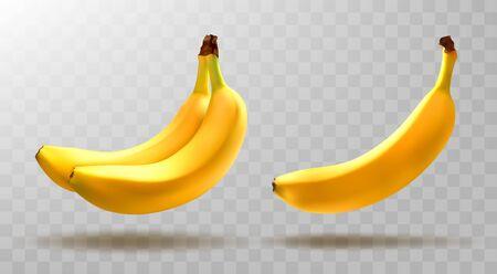 Vector bananas isolated on transparent background. Ilustracja