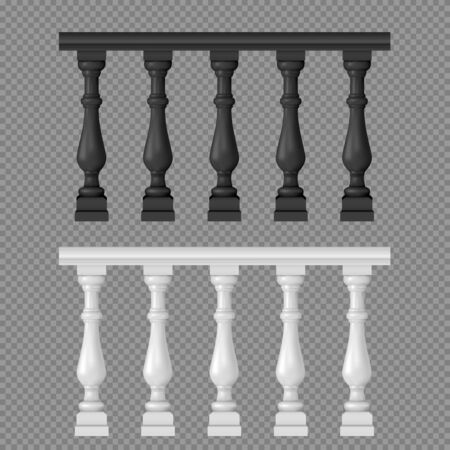 Banister or fencing sections set Illustration