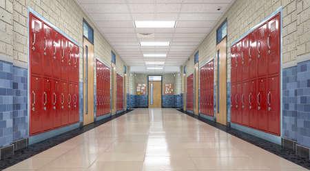 School corridor interior Standard-Bild