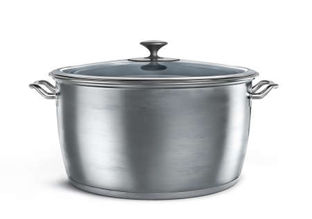 Pan on a white background. 3d illustration