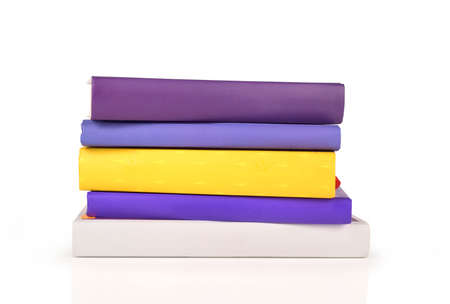 stack of color books isolated