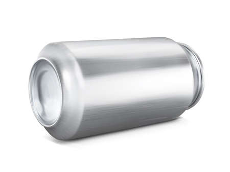 Tin can for a drink. Mockup for branding.Vector illustration on white background.