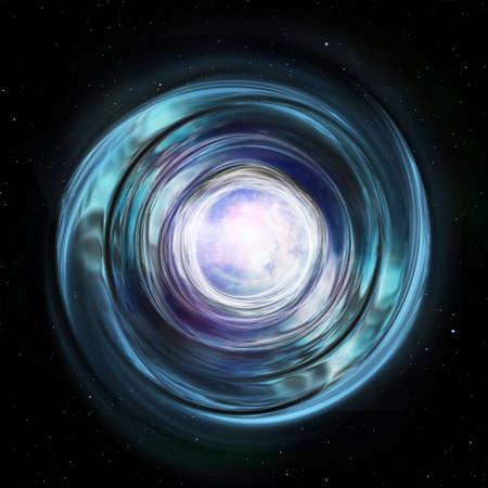 Portal to another galaxy. Mole Hole. 免版税图像