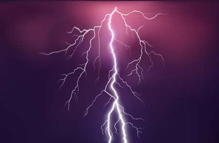 lightning flash on colored background vector illustration Vektorgrafik