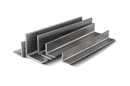Metal corners for structural reinforcement. 3d vector illustration