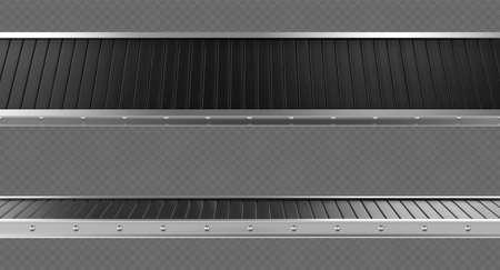 Empty conveyor belt isolated on transparent background