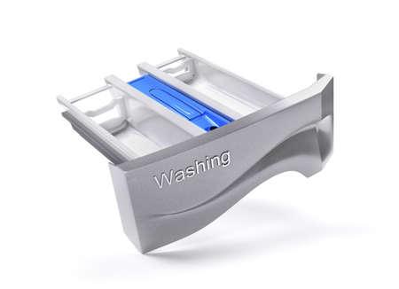 Washing powder tray. 3d illustration Stock fotó
