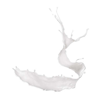 White splash on a white background.