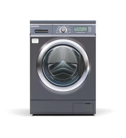Washing machine in metallic color. Vector illustration.