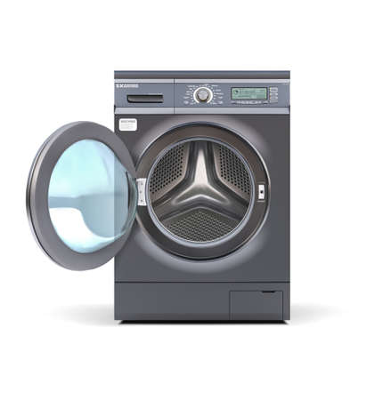 Washing machine automatic. Vector illustration.