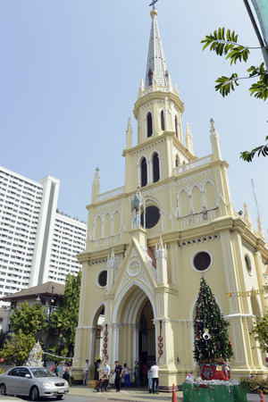 bangrak: The Rosary Church at Christmas in the Bangrak district, on the Mae Nam Chao Phraya River in Bangkok, capital of Thailand in South East Asia