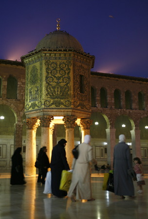 damascus: Asia, Middle East, Syria, Damascus, The courtyard of the mosque in Souq Omaijad and old city of Damascus the capital of Syria