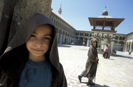 damascus: The Umayyad Mosque in the capital Damascus in Syria in the Middle East
