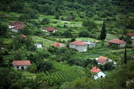 europe eastern: Europe, Eastern Europe, Balkans, Montenegro, Skadar Lake, Landscape, Godinje, agriculture, mountain village, house,