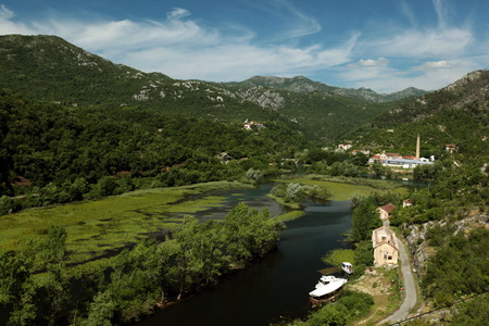 Europe, Eastern Europe, Balkans, Montenegro, Skadar Lake, Landscape, Rijeka crnojevica, Nature, Stock Photo