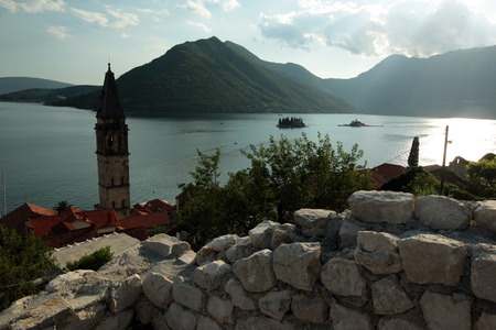 europe eastern: Europe, Eastern Europe, Balkans, Montenegro, Mediterranean, Adriatic, Persat, Bay of Kotor, Bay, Old Town, Village, Sea, Nature,