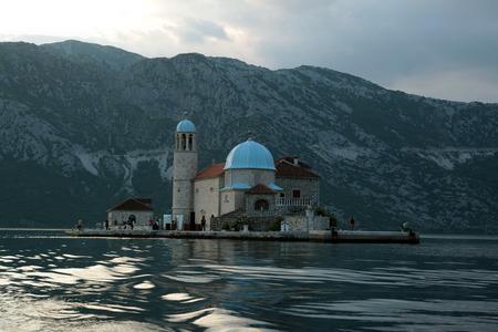 europe eastern: Europe, Eastern Europe, Balkans, Montenegro, Mediterranean, Adriatic, Persat, Bay of Kotor, Bay, Old Town, Village, Monastery, Island, Sea, Nature, Stock Photo
