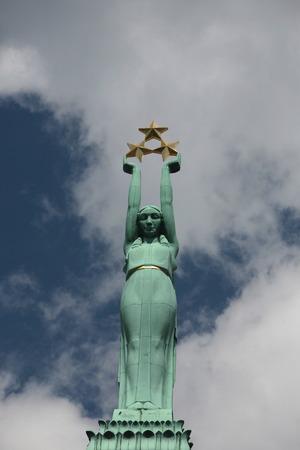 europe eastern: Europe, Eastern Europe, Baltic States, Latvia, Riga, Town, City, Memorial, Freedom Monument, Architecture, Stock Photo