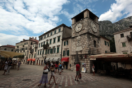 balkans: The town of Kotor on the Mediterranean Sea in Montenegro in the Balkans in Europe