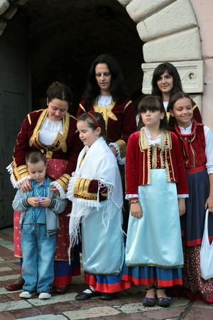 europe eastern: Europe, Eastern Europe, Balkans, Montenegro, Mediterranean, Adriatic, Kotor, Bay of Kotor, Bay, Old Town, Village, costume, festival, Floklore,