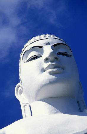 kandy:  The Big Buddha statue of Kandy in the Central Gebierge of Sri Lanka