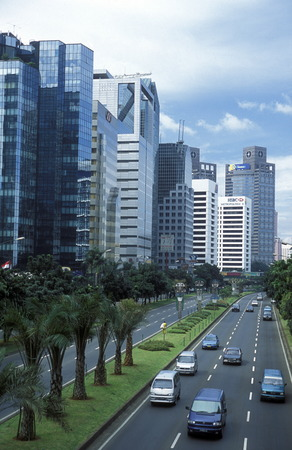 jakarta: The skyline of downtown jakarta the capital of Indonesia Editorial