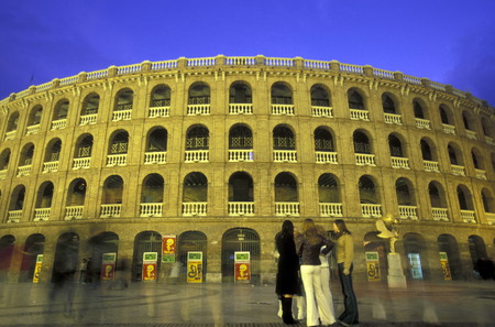 plaza de toros: The bullfighting stadium with the Plaza de Toros in the city of Valencia, Spain Editorial