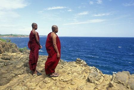 ferien: Asien, Indischer Ozean, Sri Lanka, Ein Traumstrand beim Kuestendorf Hikkaduwa an der Suedwestkueste von Sri Lanka. (URS FLUEELER)