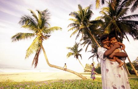 asien: Asien, Indischer Ozean, Sri Lanka, Ein Traumstrand beim Kuestendorf Hikkaduwa an der Suedwestkueste von Sri Lanka. (URS FLUEELER)