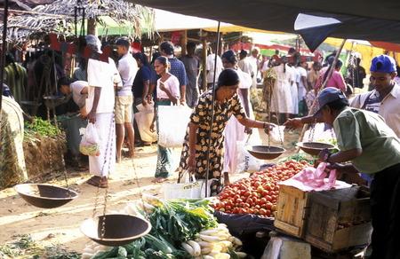 asien: Asien, Indischer Ozean, Sri Lanka, Ein traditioneller Markt im Kuestendorf Hikkaduwa an der Suedwestkueste von Sri Lanka. (URS FLUEELER)