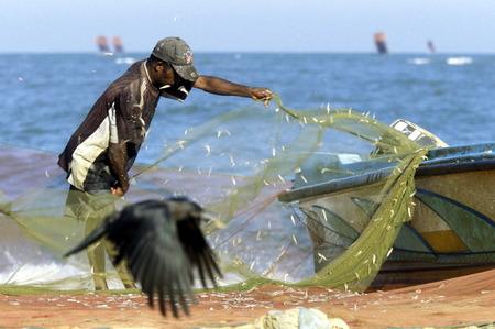 asien: Asien, Indischer Ozean, Sri Lanka, Fischer im Kuestendorf Negombo an der Westkueste von Sri Lanka. (URS FLUEELER)        Editorial