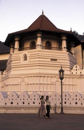 asien: Asien, Indischer Ozean, Sri Lanka, Der Tempel Sri Dalada Maligawa von Kandy im Zentralen Gebierge von Sri Lanka. (URS FLUEELER)