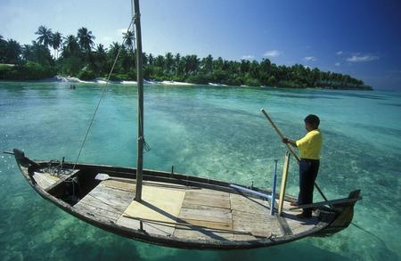 Asien, Indischer Ozean, Malediven, Ein Traumstrand Markt auf der Ferieninsel Einer Inselgruppe im Indischen Ozean Malediven Standard-Bild - 29058253
