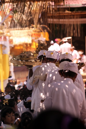 nusa: the Big traditional Ceremony on the Island Nusa lembongan next to bali in Indonesia