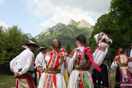 trachten: Europa, Osteuropa, Slowakei, Polen, Grenze, Cerveny Klastor, Folklore, Festival, Fest, Tranchtenfest, Tracht, Kultur, Sommer,  Editorial