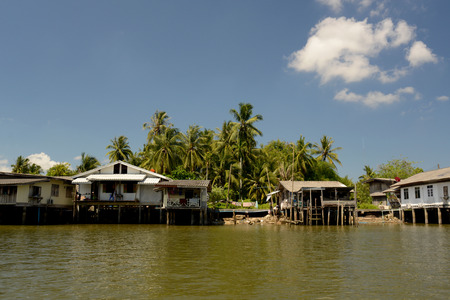 sued: A fishing Village on a lagoon near the City of Krabi on the Andaman Sea in the south of Thailand.