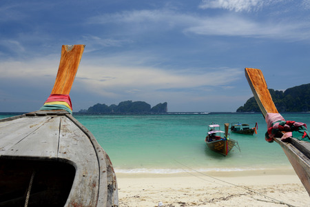 sued: A Beach on the Island of Ko PhiPhi on Ko Phi Phi Island outside of the City of Krabi on the Andaman Sea in the south of Thailand.