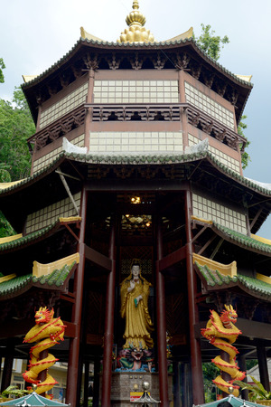 ferien: The Temple Wat Tham Seau outside the City centre of Krabi on the Andaman Sea in the south of Thailand.
