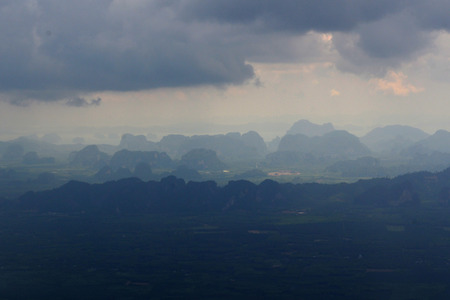 The Mountains near the City of Krabi on the Andaman Sea in the south of Thailand.  Archivio Fotografico