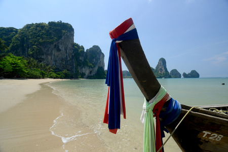 ferien: The Hat Tom Sai Beach at Railay near Ao Nang outside of the City of Krabi on the Andaman Sea in the south of Thailand.  Editorial