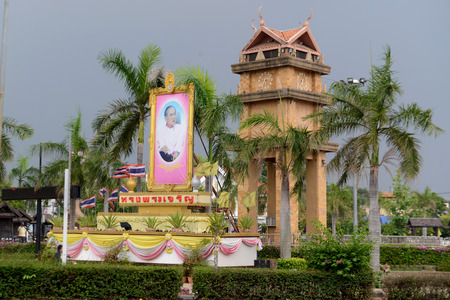 clocktower: the Clocktower in city centre of Amnath Charoen north of the City of Ubo Ratchathani in the east  of Thailand.
