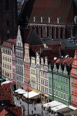 old town townhall: The Stray Rynek Square in the Old Town of Wroclaw or Wroclaw in the west of Poland. Editorial