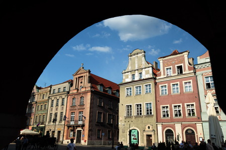 rynek: The Stray Rynek Square in the historic center of Poznan in the west of Poland.