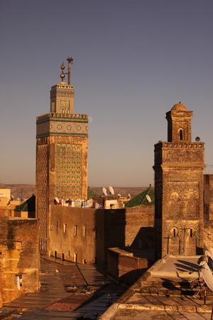 afrique du nord: La m�dina de la vieille ville dans la ville historique de F�s, au Maroc, en Afrique du nord. Banque d'images
