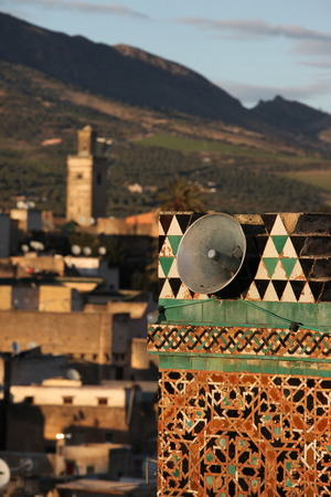 souq: The Medina of old City in the historical Town of Fes in Morocco in north Africa. Stock Photo