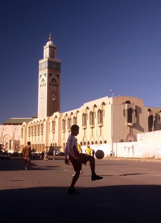 afrique du nord: La Mosqu�e Hassan 2 dans la ville de Casablanca au Maroc, en Afrique du Nord.