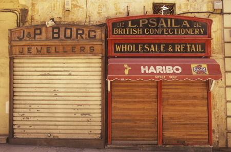 traditon: A Shop in the city of Valletta on Malta in Europe.