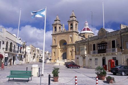 ferien: The Church in Vittoriosa in the City of Valletta on Malta in Europe.