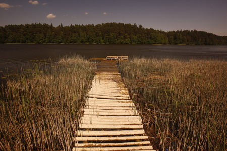 landschaft: a smal lake near the city of Vilnius and the Baltic State of Lithuania,